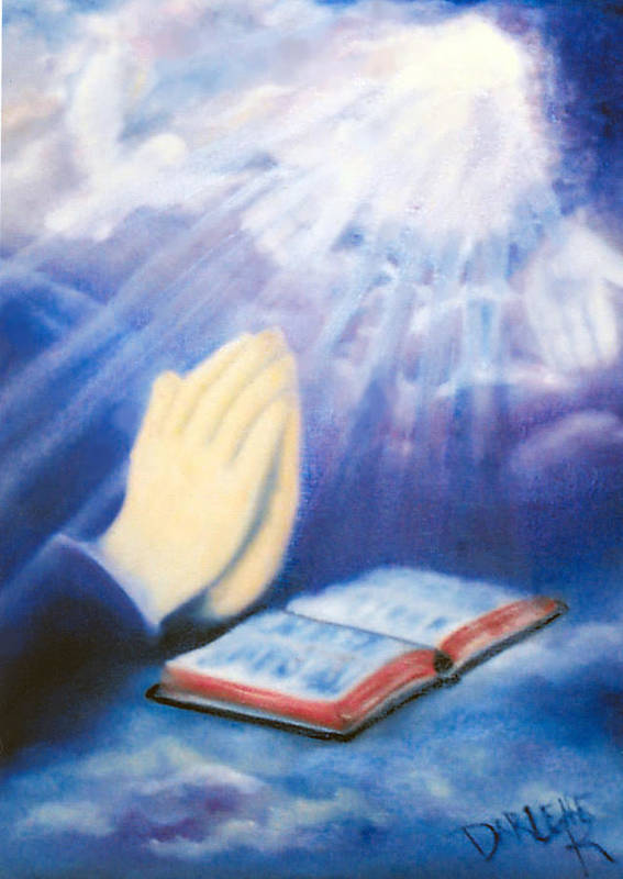 Prayer Poster featuring the painting Our Daily Bread by Darlene Green