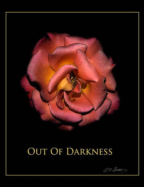 Poster featuring the photograph Out Of Darkness by Richard Gordon