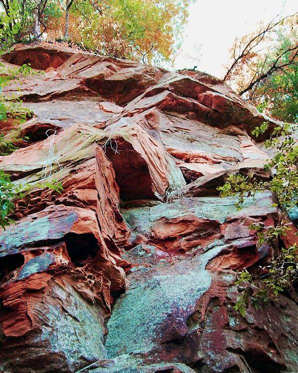 Sandstone Poster featuring the photograph Outcrop At Wildcat Den by Jame Hayes