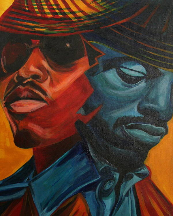 Big Boi Poster featuring the painting Outkast by Kate Fortin