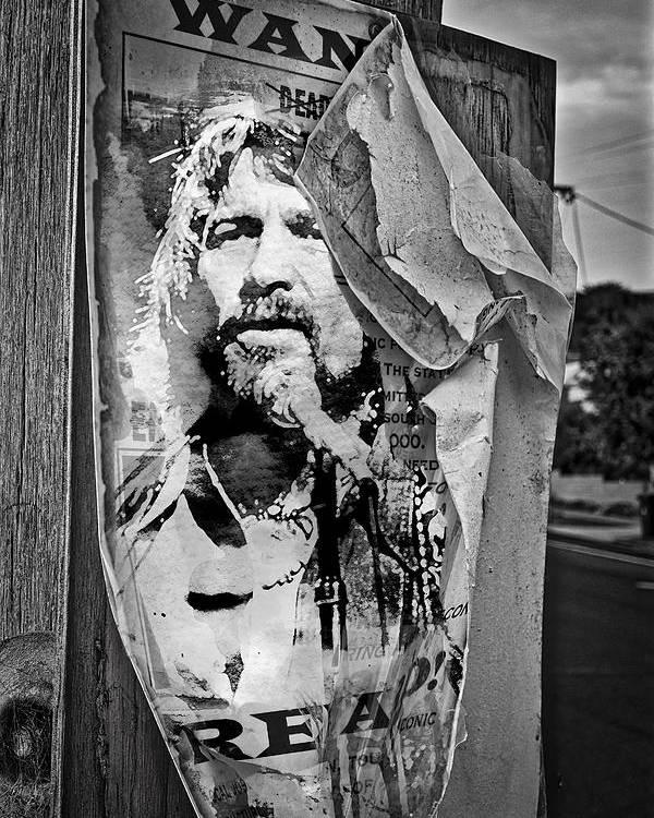 7914676765a3d Waylon Jennings Poster featuring the photograph Outlaw Waylon Jennings by  Mal Bray. Wall View 001