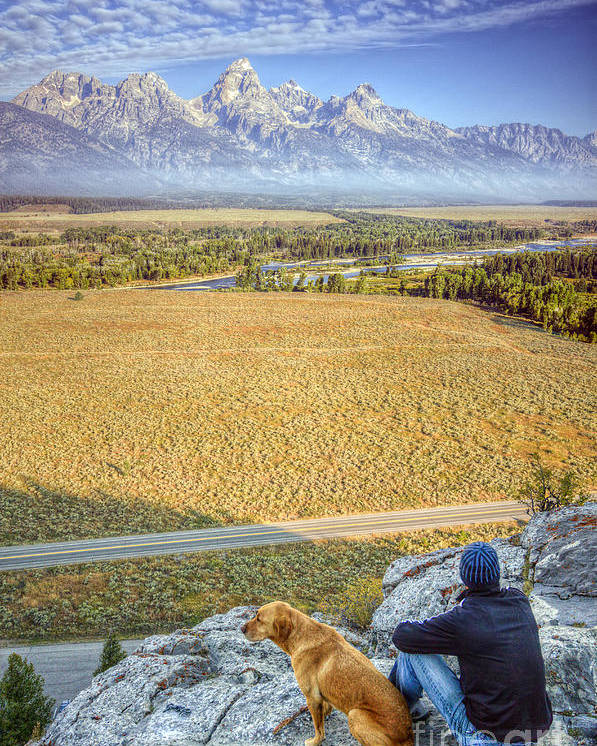 Jackson Hole Poster featuring the photograph Overlooking The Grand Tetons Jackson Hole by Dustin K Ryan