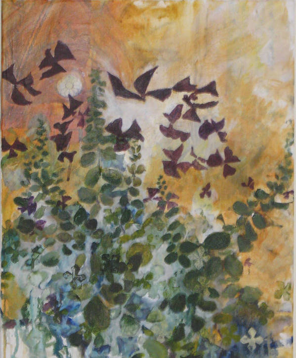 Oxalis Poster featuring the mixed media Oxalis by Alicia Kroll
