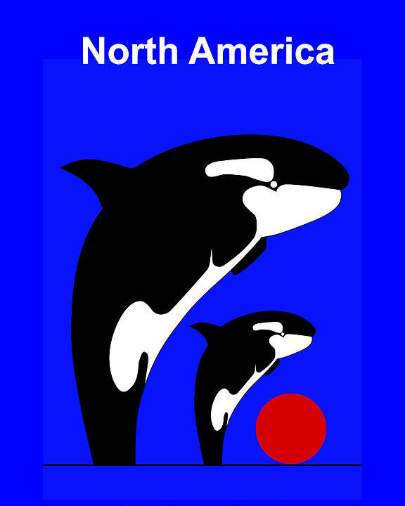 Poster featuring the digital art Pacific Ocean - North America by Asbjorn Lonvig