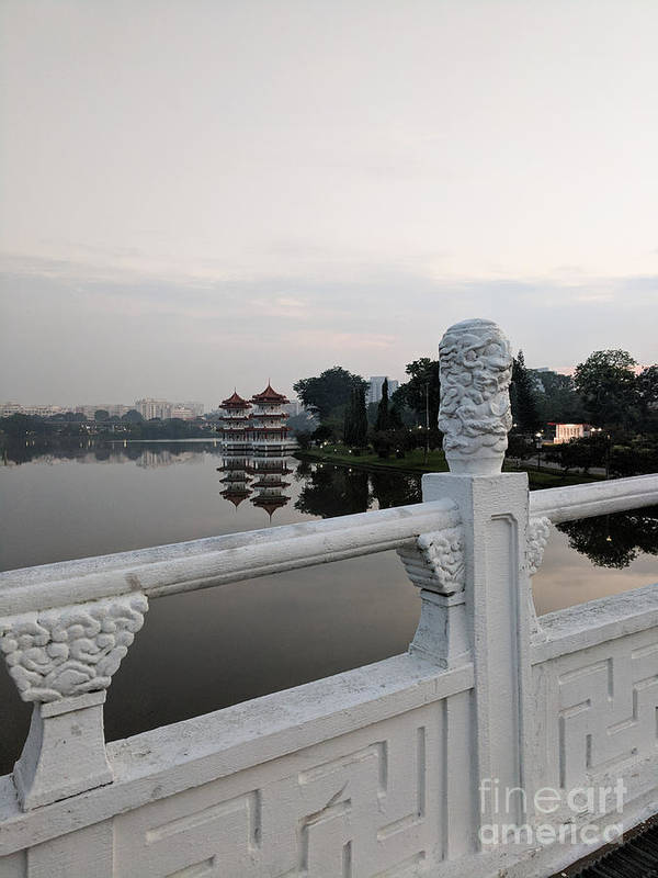 Pagoda Poster featuring the photograph Pagoda Reflection In Chinese Garden Singapore by Nicholas Braman