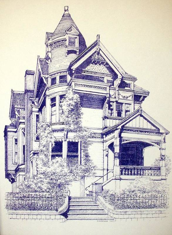 Victorian Mansions Houses Architecture Homessan Francisco Poster featuring the painting Painted Lady by Tony Ruggiero