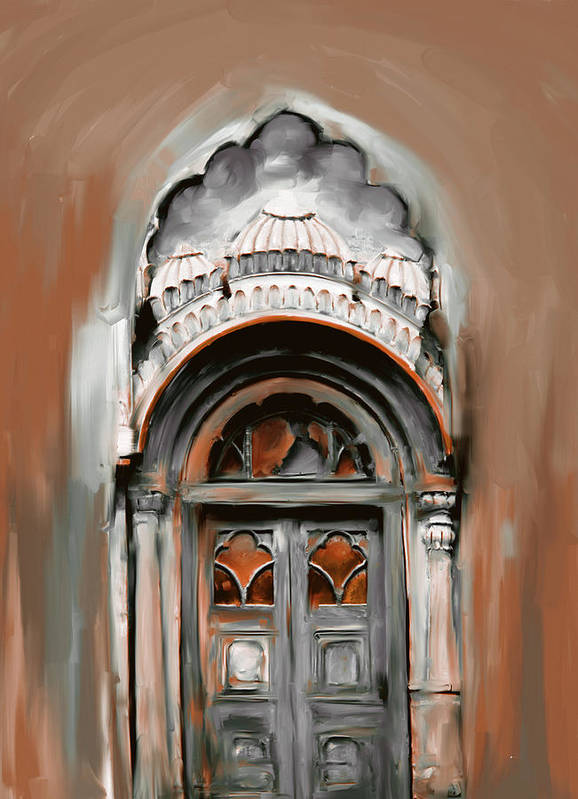 Sethi Poster featuring the painting Painting 802 4 Sethi Street Door by Mawra Tahreem