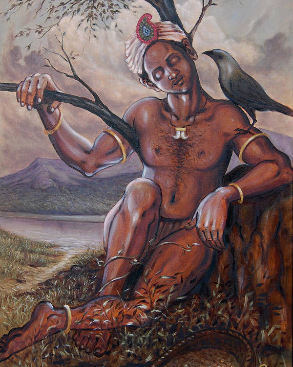 Historical Poster featuring the painting Pakkanar's Salvation by Anup Roy
