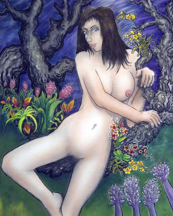 Nude Poster featuring the painting Pale Flale by Eddie Sargent