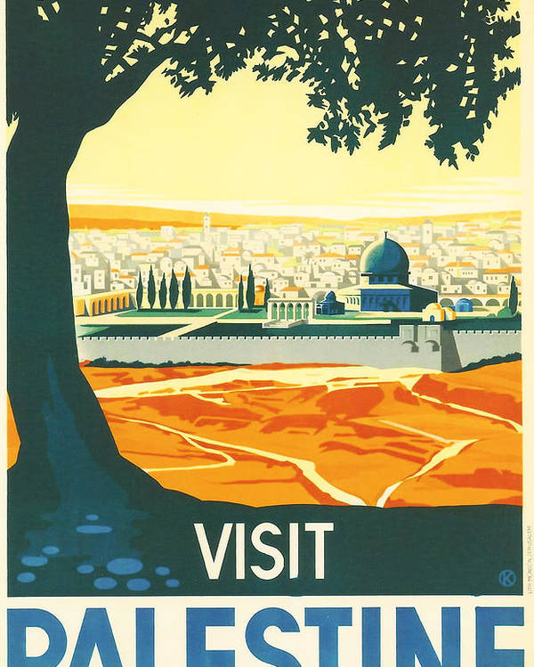 Ancient Poster featuring the digital art Palestine by Georgia Fowler
