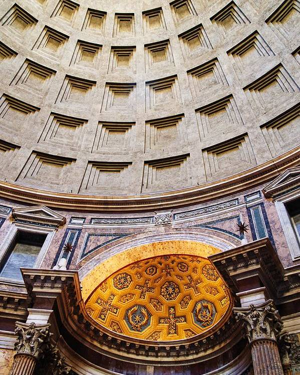 Italy Poster featuring the photograph Pantheon Abstract by Allan Van Gasbeck