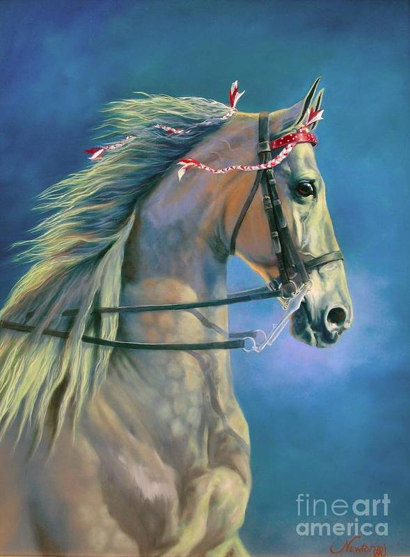 Horse Poster featuring the painting Paranormal by Jeanne Newton Schoborg