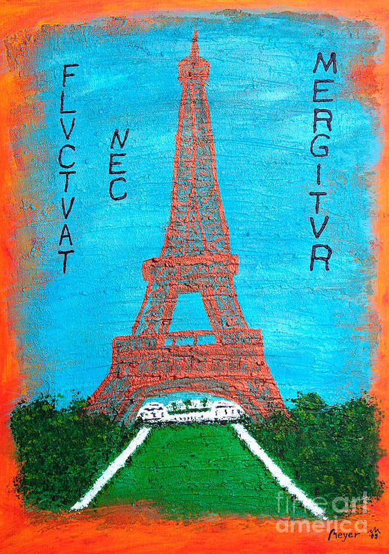 Paris Poster featuring the painting Paris by Sascha Meyer