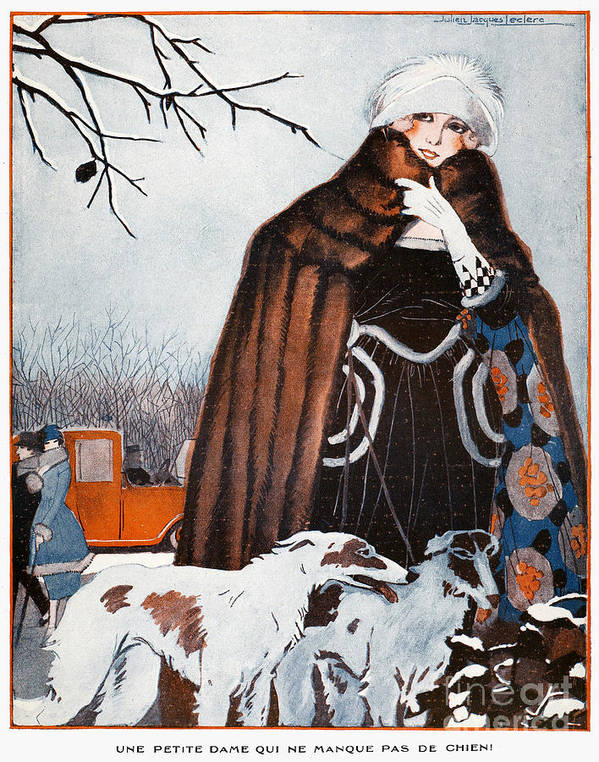 1921 Poster featuring the photograph Parisian Style, 1921 by Granger