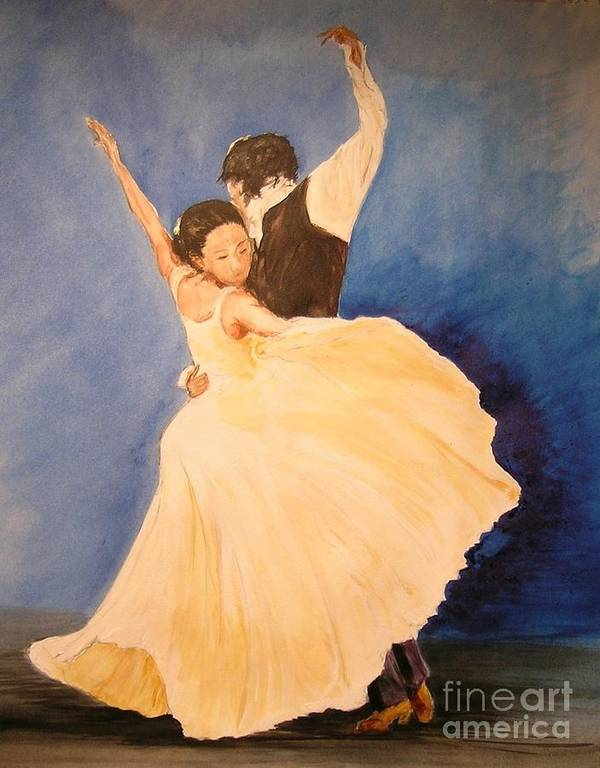 Spain Poster featuring the painting Pasion Gitana by Lizzy Forrester