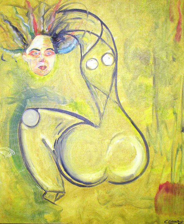 Woman Poster featuring the painting Passion by Narayanan Ramachandran