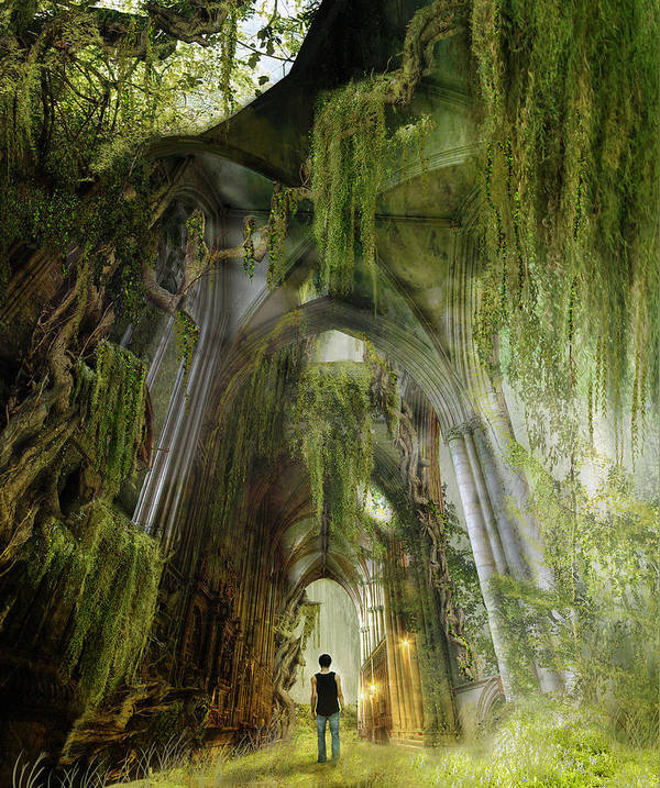 Westminster Poster featuring the photograph Path To Inner Peace by Karen Koski