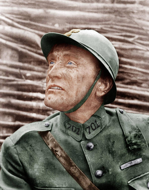 1950s Portraits Poster featuring the photograph Paths Of Glory, Kirk Douglas, 1957 by Everett