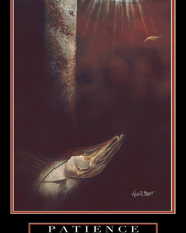 Motivation Poster featuring the painting Patience by Kevin Brant
