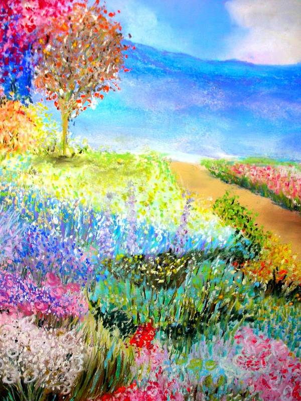 Landscape Poster featuring the print Patricia's Pathway by Melinda Etzold