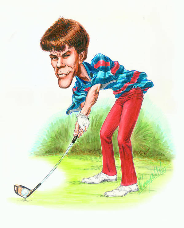 Paul Azinger Poster featuring the drawing Paul Azinger by Harry West