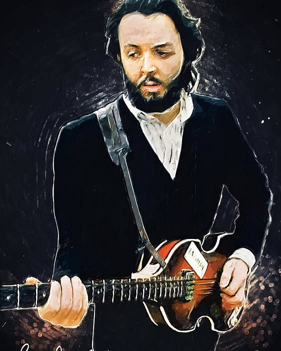 Paul Mccartney Poster featuring the digital art Paul McCartney by Zapista OU