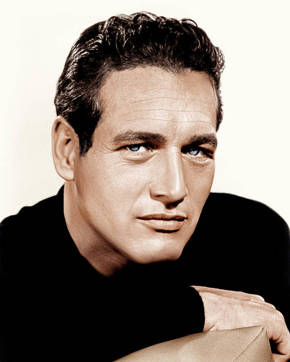 1960s Portraits Poster featuring the photograph Paul Newman, Ca. 1963 by Everett