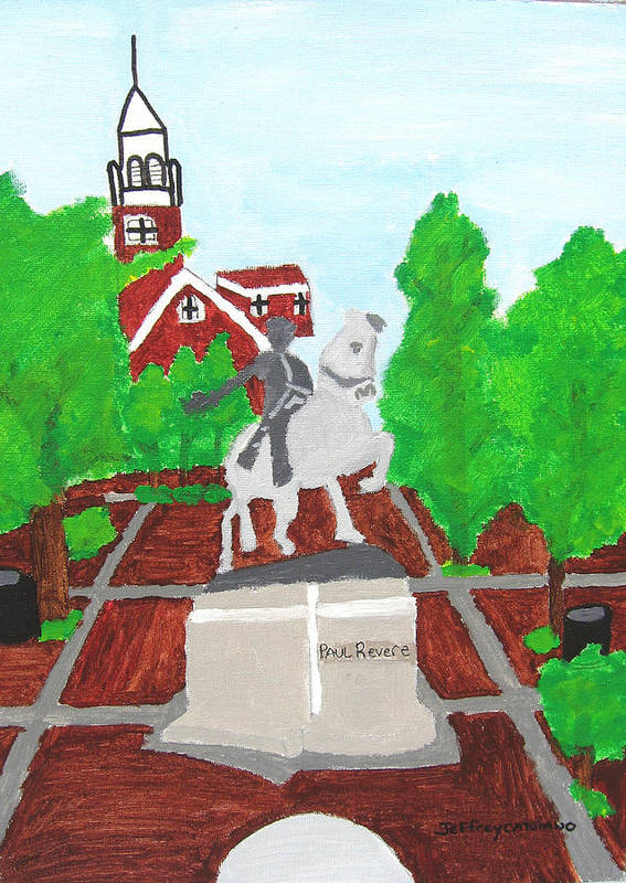 Paul Revere Poster featuring the painting Paul Revere by Jeff Caturano