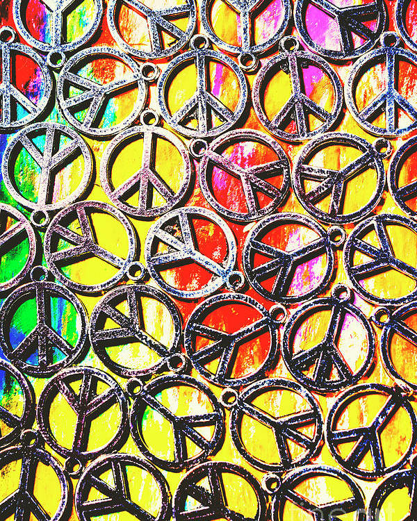 Peace Poster featuring the photograph Peace In All Colours by Jorgo Photography - Wall Art Gallery