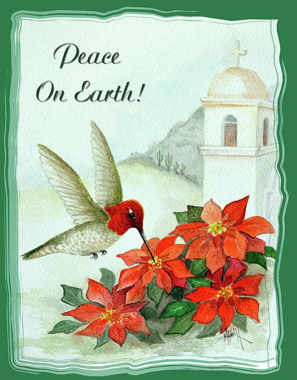 Christmas Card Poster featuring the painting Peace On Earth by Marilyn Smith