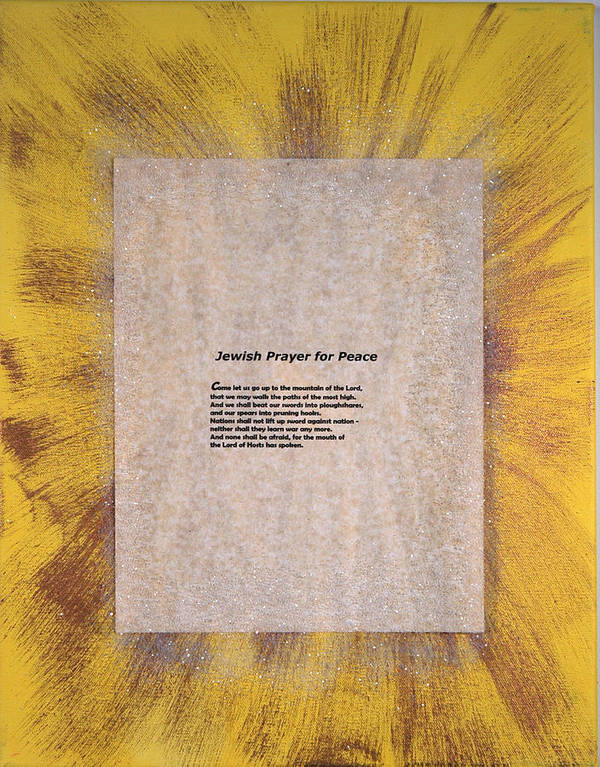 Peace Poster featuring the painting Peace Prayers - Jewish Prayer For Peace by Emerald GreenForest