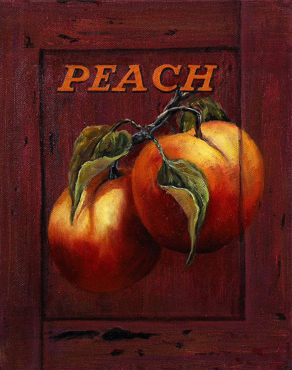 Peaches Poster featuring the painting Peach by Lynne Pittard