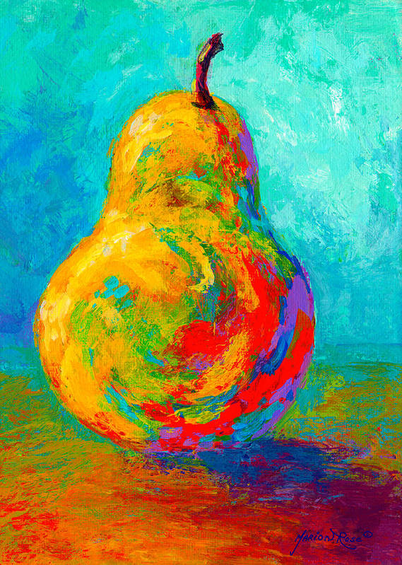 Pear Poster featuring the painting Pear I by Marion Rose