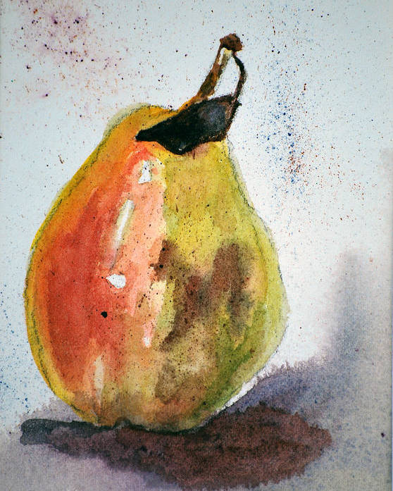 Pear Poster featuring the painting Pear Study by Neva Rossi
