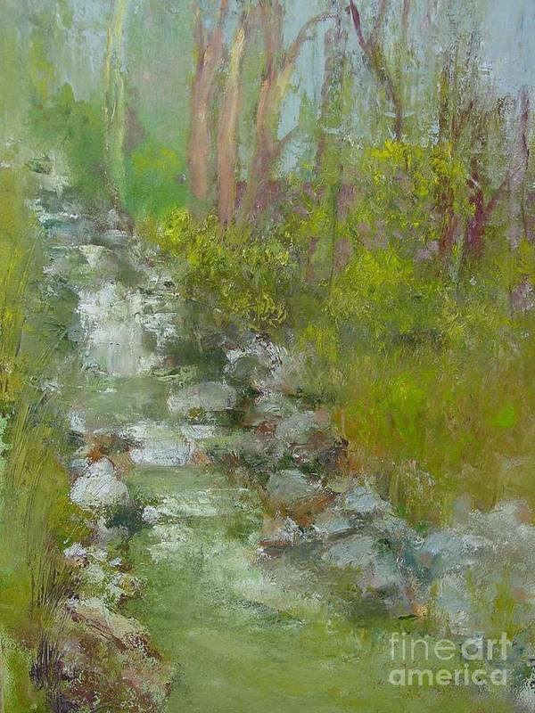 Landscape Poster featuring the painting Peekskill Hollow Creek by Kathleen Hoekstra