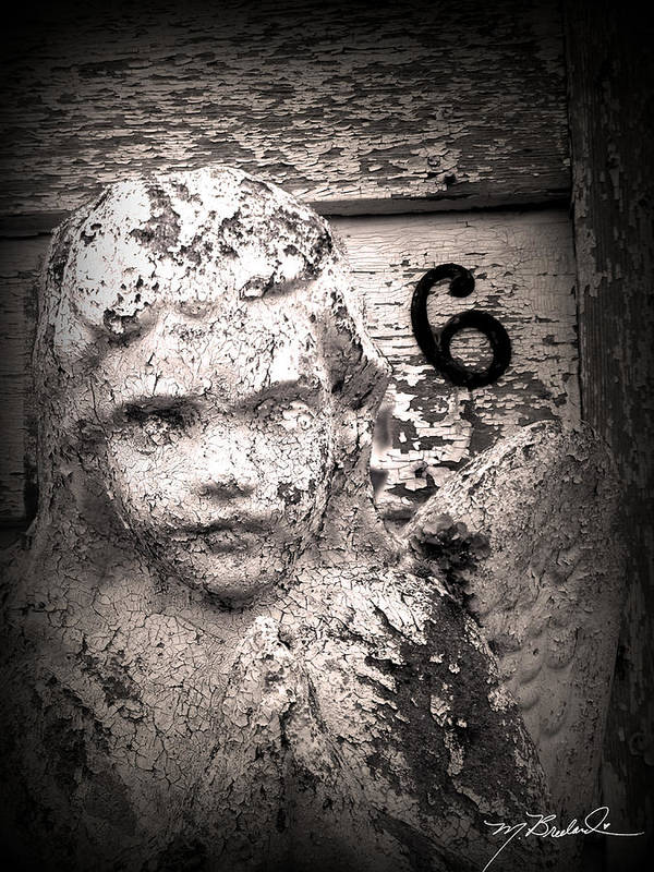Angel Poster featuring the photograph Peeling Paint Number 6 by Melissa Wyatt