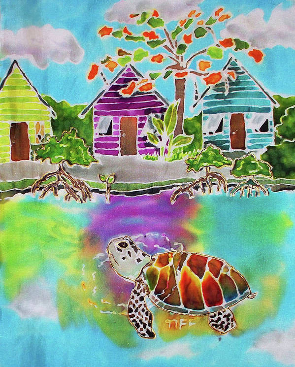 Bahamas Art Poster featuring the painting Peepin Tom by Tiff
