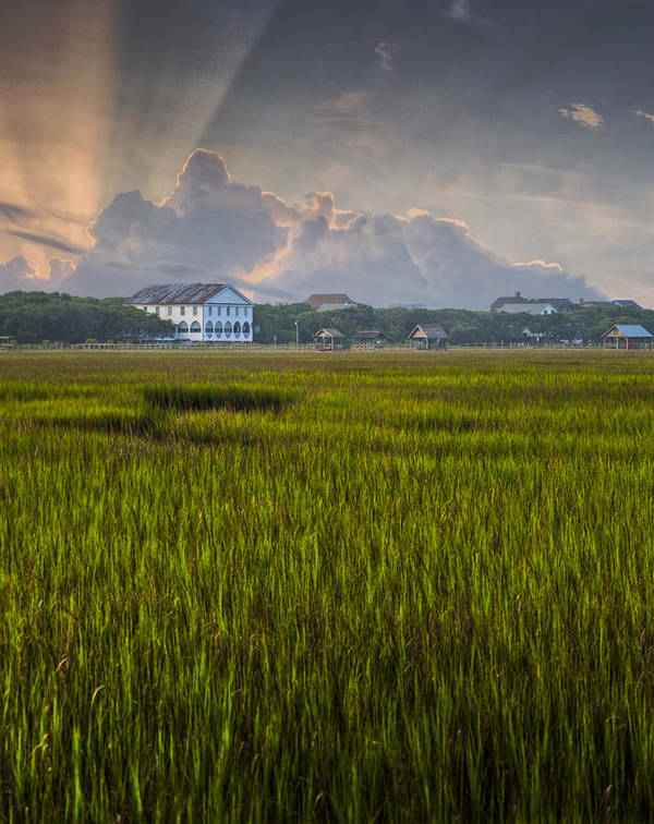 Pawleys Island Poster featuring the photograph Pelican Inn Sunrise by Ginny Horton