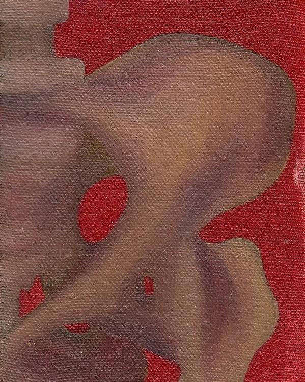 Pelvis Poster featuring the painting Pelvis by M Blaze Wolenski