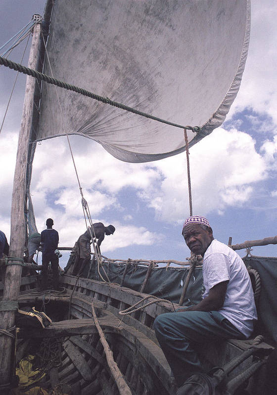 Pemba Island Poster featuring the photograph Pemba Boat by Marcus Best