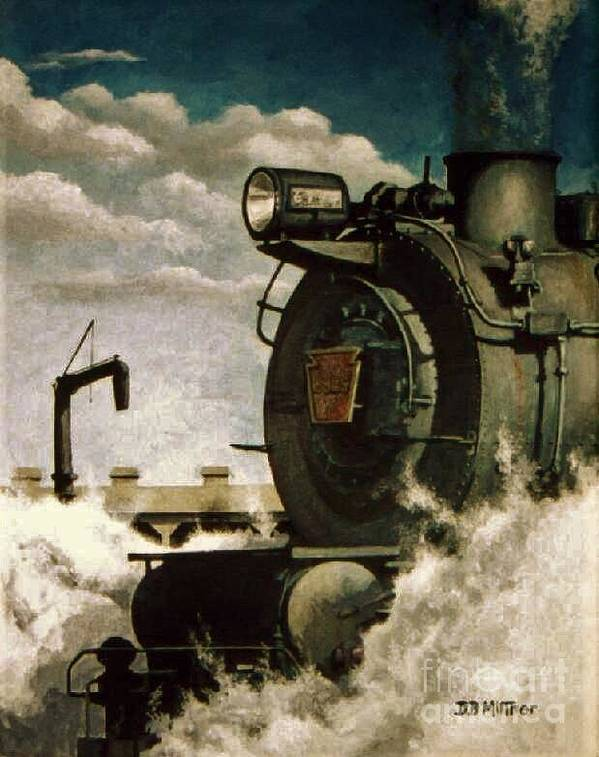 Pennsylvania Railroad Prr Train Painting Railroad Maryland And Pennsylvania Autumn Fall Colors Steam Engine Poster featuring the painting Pennsy M1 by David Mittner