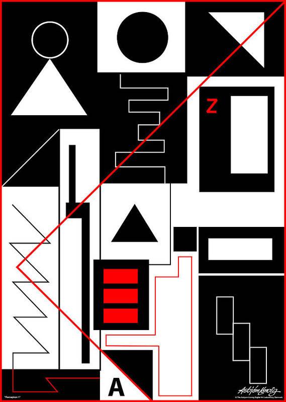 Asbjorn Lonvig Poster featuring the digital art Perception I by Asbjorn Lonvig