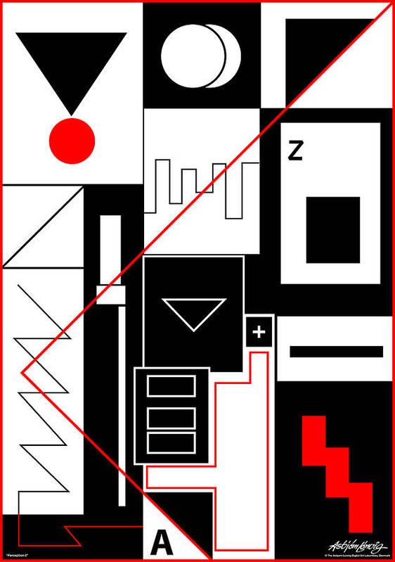 Asbjorn Lonvig Poster featuring the digital art Perception II by Asbjorn Lonvig