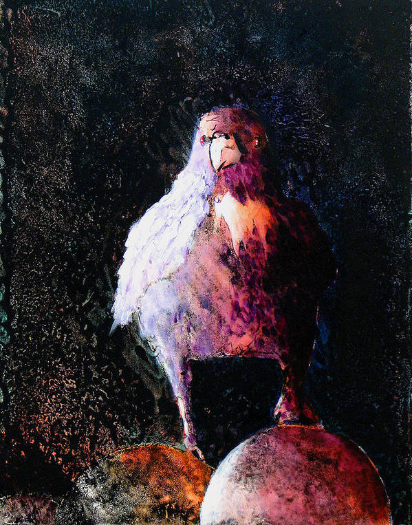 Raven Poster featuring the painting Perched by Sandy Applegate