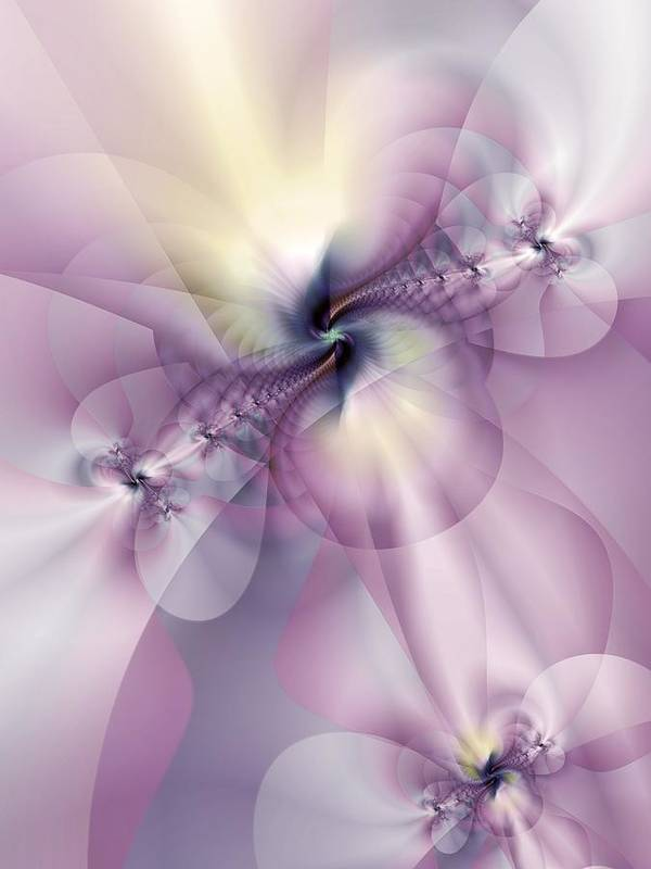 Abstract Poster featuring the digital art Petals Of Pulchritude by Casey Kotas