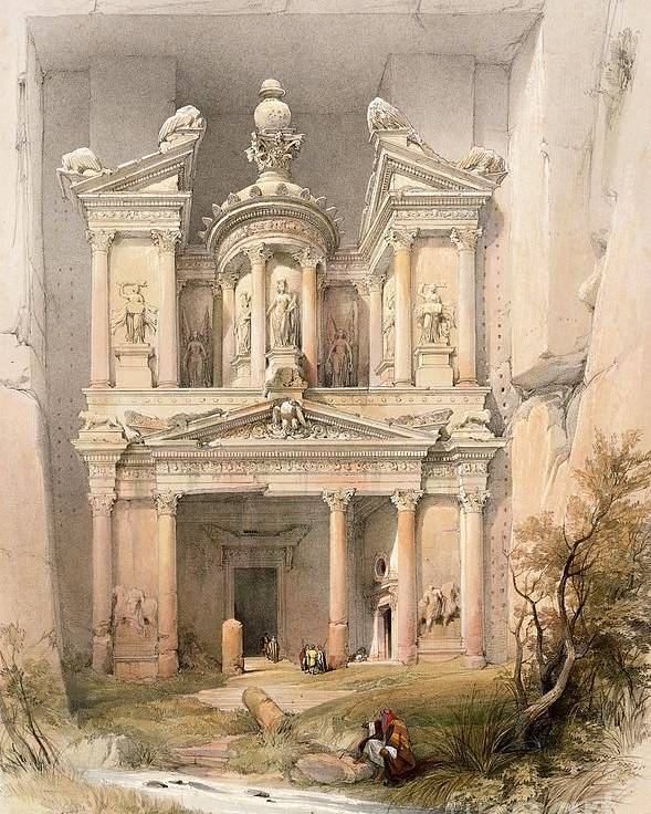 Petra Poster featuring the painting Petra by David Roberts