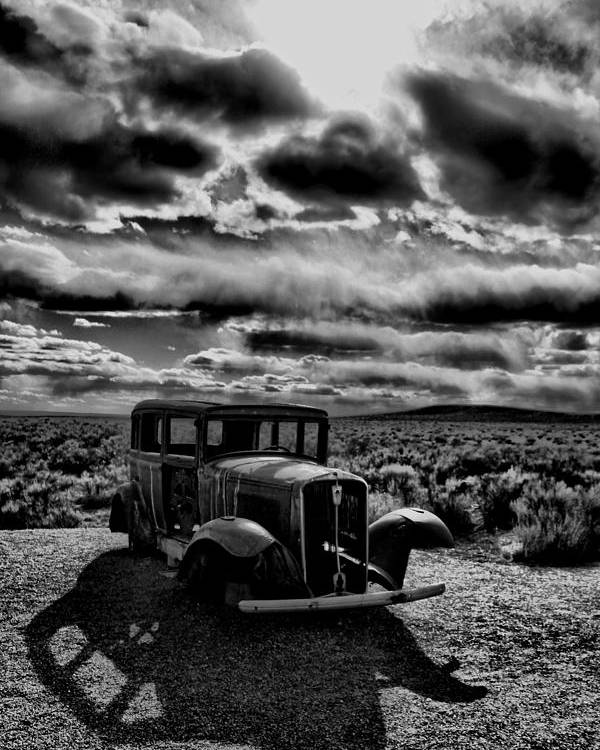 Poster featuring the photograph Petrified Forest Car by Ferran Badia