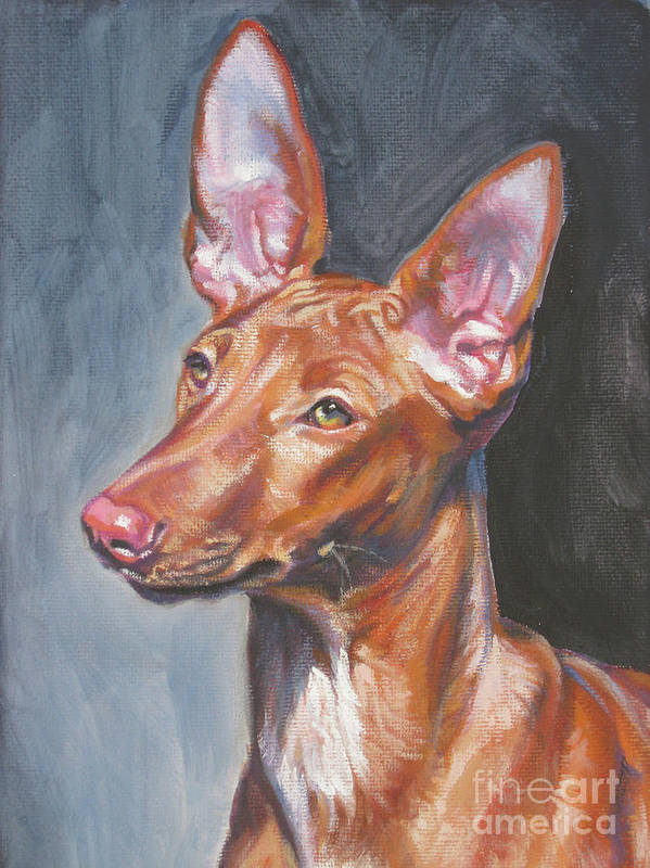 Pharaoh Hound Poster featuring the painting Pharaoh Hound by Lee Ann Shepard