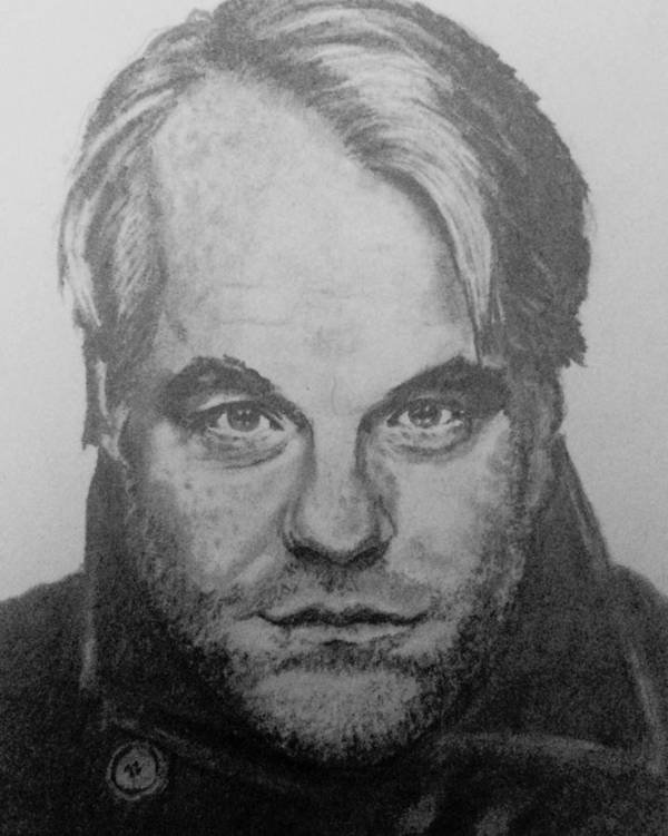 Philip Seymour Hoffman Poster featuring the drawing Philip Seymour Hoffman by Kate R