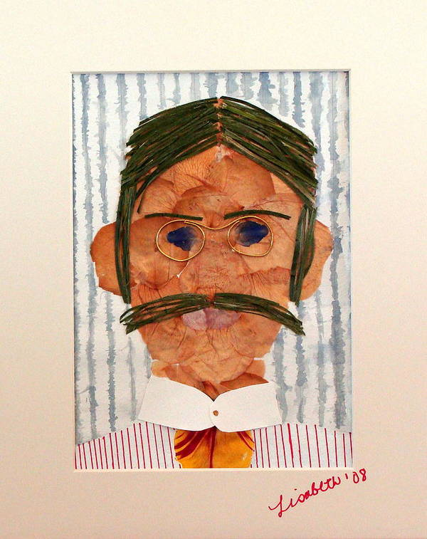 Man Poster featuring the mixed media Phinneas by Lisabeth Billingsley